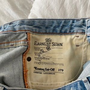 Earnest Sewn Shorts - Earnest Sewn Keaton Cut-Off 279 denim shorts
